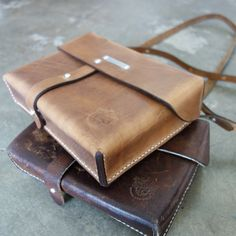 The leather bag is manufactured to the highest quality with careful attention given to an every detail. The bag is compact yet can fit many of the everyday essentials like your phone, wallet, small sketchbook (both Passport Traveler's Notebook, Regular Size Traveler's Notebook and A5 size Roterfaden fit!) $575!