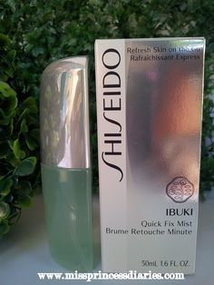 Miss Princess Diaries: Refresh skin on the go: Shiseido Ibuki Quick Fix Mist