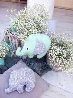 Cute Elephant Themed Baptism | CatchMyParty.com