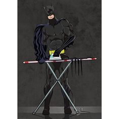 Batman Ironing Art Print by wyatt9 on Etsy