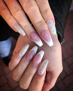 Doviscsák Dóra (@dorcinails) • nails french coffin ballerina nails