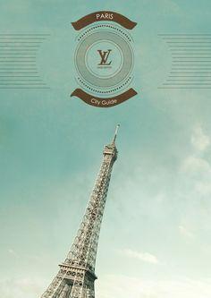 Project for a Louis Vuitton's vintage city guide. Vintage Louis Vuitton, Travel Guide, Wanderlust, Tower, Behance, Graphic Design, City, Behavior, Rook