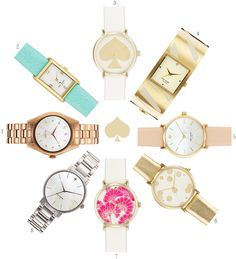 I will take one of each please! (1) Seaport Gold  (2) Cooper Gold/Turquoise  (3) Metro Gold  (4) Delacorte Gold  (5) Metro Rose Gold/White  (6) Metro Gold/Gold  (7) Metro Gold/Pink  (8) Gramercy Silver