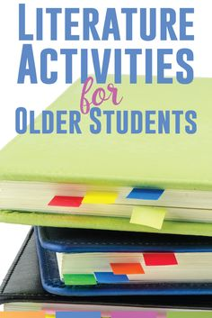 Teaching literature with older students - engage them through connections and analysis. This is quick list of activities for literature with secondary students.
