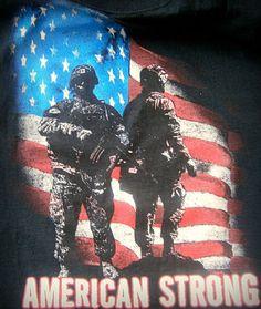 """Jerzees Black Tee Shirt """"American Strong"""",2GT,2EG,2XL BRAND NEW  #JERZEES #GraphicTee"""