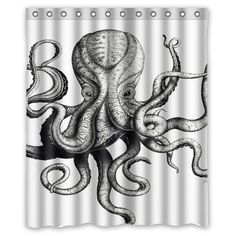 c47796251d73 Best Octopus Vintage White Custom Shower Curtain Size 60x72 and 66x72   Unbranded  Modern