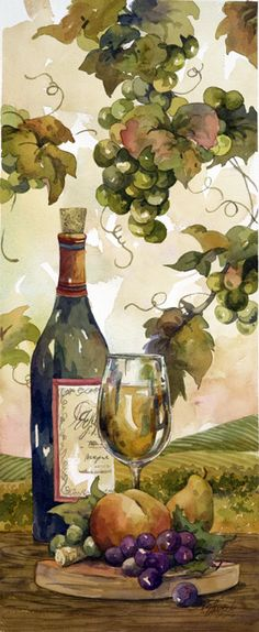 White Wine and Fruit (Jerianne Van Dijk)