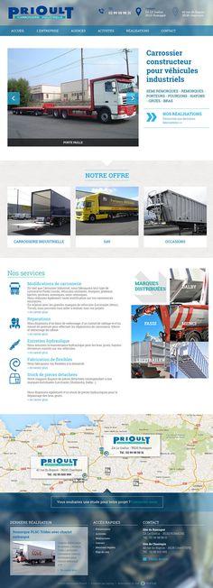 Nouvelle réalisation Startup sous Saytup pour le site responsive Carrosserie Prioult à Romagné. http://www.carrosserieprioult.fr