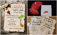 Invitaciones como si fueran un mapa del tesoro o un pañuelo