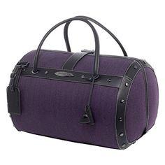 Purple overnight bag
