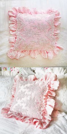 Shabby Chic Tablecloth, Pink Lace, Luxury Bedding, Accent Pillows, French Country, Lace Shorts, Bedrooms, Cottage, Cushions