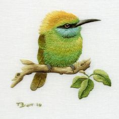 embroidery artwork by Trish Burr