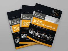 Desain Brosur / flyer Deluxe Detailing & Wax oleh www.SimpleStudioOnline.com | Order desain brosur profesional >> WA : 0813-8650-8696