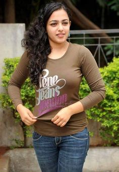 Bollywood Actresses Pictures Photos Images: South Indian Actress Nithya Menon in Tight T Shirt Photos Beautiful Girl Indian, Beautiful Girl Image, Most Beautiful Indian Actress, Beautiful Saree, Beautiful Children, Beautiful People, Indian Film Actress, South Indian Actress, Indian Actresses