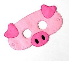 Cerdo máscara traje de pollo fieltro máscara por BabyWhatKnots
