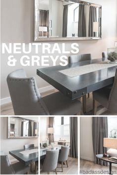 Neutrals & Greys - gorgeous muted color palette   Interior Design   Inspiration   via @meandgeneral
