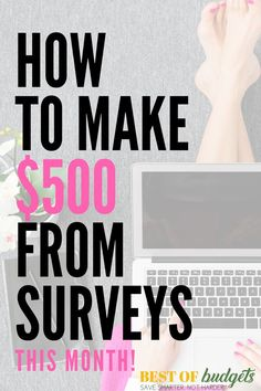 How to Make $500 This Month from Surveys! Make money online | make money work from home | work from home | make money with surveys | make money from surveys | survey income | survey income report | income report | make money blogging | bestofbudgets.com