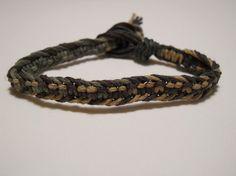 Green and Brown Variegated Hemp Bracelet by PeaceLoveNKnottyHemp, $6.25