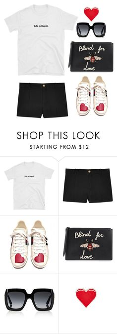 """""""Blind for Love"""" by youaresofashion ❤ liked on Polyvore featuring Gucci, PINTRILL and gucci"""