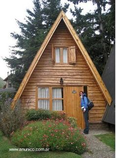 Prefabricated wooden hut