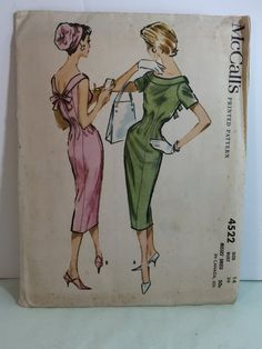 Vintage 1958 McCall's Pattern 4522 Misses' Dress Size 14