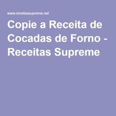 Copie a Receita de Cocadas de Forno - Receitas Supreme