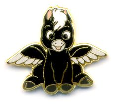 """This pin is the Black Baby Pegasus from the Pastoral Symphony section of Fantasia. These are limited to 2500 of each pin and completer cards. Baby Pegasus is tall X wide The """"map"""" was separate. Disney Pins Sets, Disney Pins For Sale, Disney Love, Disney Magic, Disney Pixar, Walt Disney, Disney Pens, Disney Pin Trading, Pegasus Disney"""