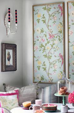 DIY Framed Wallpaper Panels
