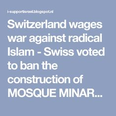 Image result for pics of switzerland ban on mosques