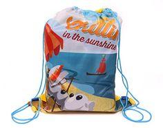 IMTD-Camiseta Disney Olaf de Frozen diseño de muñeco de nieve bolsa con cordón bolso de natación Natación PE Bolso de escuela, color multicolor, talla Talla única #regalo #arte #geek #camiseta