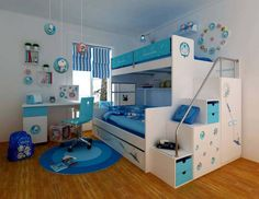 Kids Room. Decorating Ideas for Boys Bedroom. Doraemon Themed Boys Bedroom…