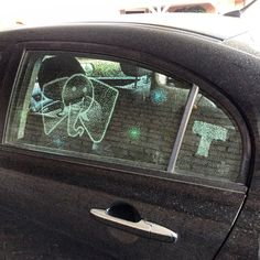 Dotted car screen
