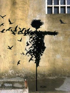 Pochoir street art tableau