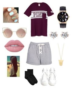 """""""Party/ reg. Dayzz"""" by jamessolana on Polyvore featuring Boohoo, Ash, Hue, MANGO, Lime Crime and Gorjana"""