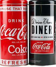 Set Of 2 Coca Cola Coke Kitchen / Home Metal Storage Tins