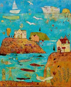 Jane Filer. Islands scene
