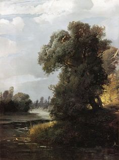 The ~ Artworks of Aleksey Savrasov and containing the word aleksey savrasov, realism, fires and containing the word floods, forests, wood Russian Landscape, Landscape Art, Landscape Paintings, Russian Painting, Russian Art, Great Paintings, Oil Paintings, Watercolor Trees, Leaf Art