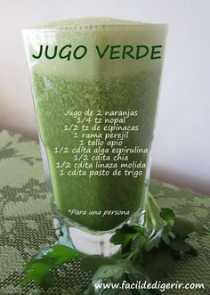 Jugo verde | Cocina y Comparte | Recetas de Ana Arizmendi de Fácil de digerir y Lunes sin Carne