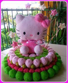 Tarta de chuches - Candy cake - Gâteau de bonbons - Snoeptaart - Hello Kitty
