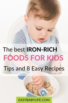 The best iron-rich foods for kids, yummy iron-rich recipes, why they need iron, how much iron babies and children need, and smart tips for optimal iron intake. #baby #toddler #kids feeding toddler, baby food, feeding baby, baby health, toddler health Feeding Baby Solids, Solids For Baby, Baby Feeding, Introduce Solids To Baby, Vitamin Rich Foods, Baby Solid Food, Best Iron, Baby Schedule, Introducing Solids