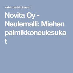 Novita Oy - Neulemalli: Miehen palmikkoneulesukat