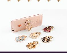 Cell Phone Universal Finger Ring Holder Stand Luxury Rose Flowers 360 Rotating  #CellPhoneChina