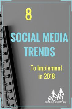 What to do on social media this year (2018)!