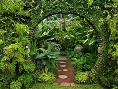 I like the round arch for a walk through path.