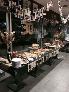 Dessertbuffet Black Gold Erwachsenen Party Men 30th Birthday Parties