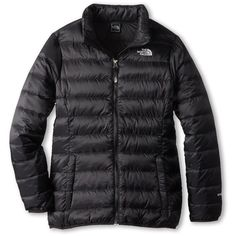 The North Face Kids Girls' Inverse Down Jacket (Little Kids/Big Kids) ($120) ❤ liked on Polyvore featuring coats & outerwear and tnf black
