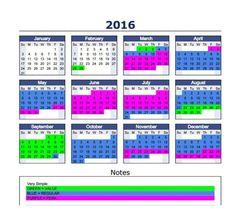 2016 Tiered Pricing Calendar disney
