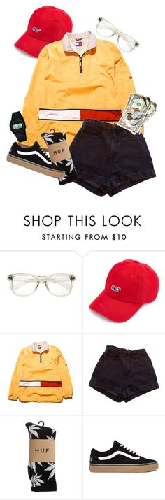 """""""stfu u idi0t"""" by tessa-g ❤ liked on Polyvore featuring Tommy Hilfiger, American Apparel, HUF, Casio, tumblr, grunge, skater, skating and tumblrstyle"""