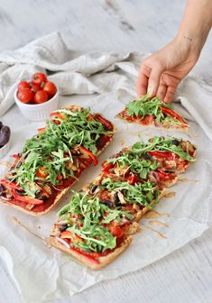 FOCACCIA PIZZA WITH TAHINI BALSAMIC DRIZZLE » colourful + shareable {vegan, plant-based, gluten free}