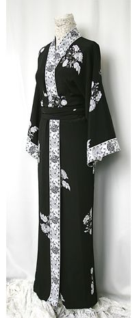 """Oriental Kimono Duster: You'll walk into a room and all heads will turn when you wear our best selling """"Kimono- Duster"""". It can be worn as the traditional kimono with fitted cummerbund or open over a chic black ankle-length dress or pants.You'll be the envy of the party."""